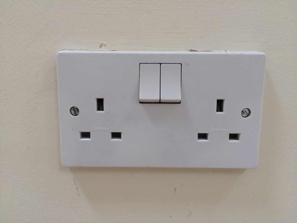 This socket looked OK when it was fixed to the wall...
